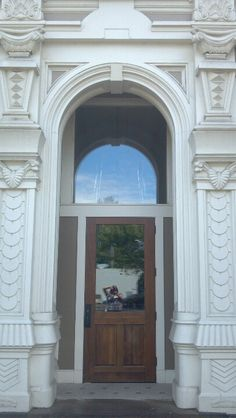 Doorway of Flinn Block building. Albany Oregon