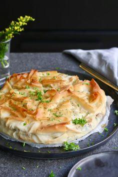 Savory mushroom cake from phyllo dough - Beaufood - Savory mushroom cake from phyllo dough, Savory pie phyllo dough, Autumn recipes, Cake phyllo dough, - Filo Recipe, Food Blogs, Quiches, Low Carb Brasil, Vegetarian Recipes, Cooking Recipes, Good Food, Yummy Food, Healthy Food