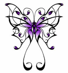 Pictures Butterfly Tattoos on Purple Butterfly Tattoo Picture Tribal Butterfly Tattoo, Butterfly Tattoo Designs, Butterfly Design, Purple Butterfly Tattoo, Butterfly Art, Butterfly Project, Butterfly Tattoos For Women, Simple Butterfly, Dragonfly Tattoo