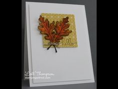 Stamping with Loll: Watercoloured Fall Leaves with Distress Inks
