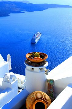 Firostefani blue, Santorini, Greece