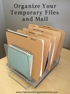 HAVE YOU STRUGGLED WITH KEEPING PAPER ORGANIZED??? I'm sharing tips on organizing your temporary paper files and sorting your mail, today at Fabulously Organized Home.