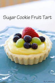 These tarts have a sugar cookie crust and lemon pudding filling!