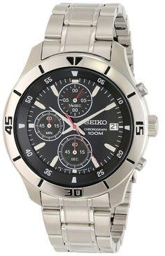 Seiko men watches: Seiko Men's SKS401 Analog Display Japanese Quartz Silver Watch