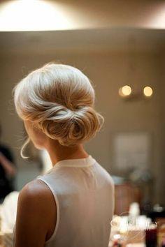 Simple but oh so very elegant. Wedding hair.