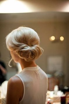 Simple but oh so very elegant. Wedding hair.