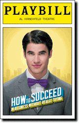 How to Succeed Darren Criss Playbill