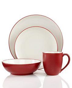 "Noritake ""Colorwave Raspberry"" Dinnerware Collection - Dinnerware - Dining & Entertaining - Macy's"