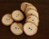 SALE Small Natural Wood Buttons Upcycled. $7.00, via Etsy.