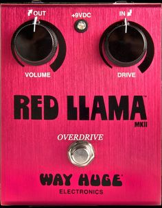 I want this because its red and Tom Petty used it when he made Full Moon Fever: Way Huge Electronics Way Huge Red Llama Overdrive Guitar Effects Pedal H81231000000000.tif