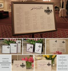 Wedding Day Stationery to coordinate with Seating Charts