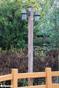 Wooden light post pinteres solar lights at the end of the driveway by the new gate aloadofball Images