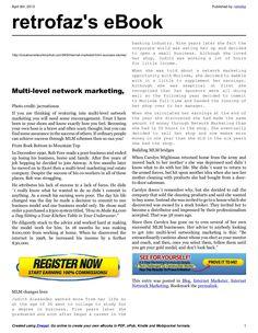 mlm-success-stories-18411805 by retrofaz via Slideshare