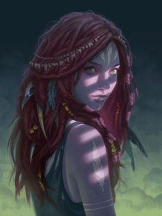 Imagen de art, dreads, and girl