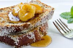 Coconut Crusted Banana Bread French Toast (from Doughing Rogue)