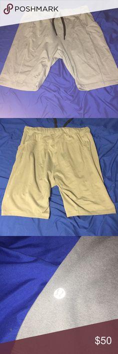 Lululemon men's shorts 10/10 condition, side pocket, drawstring waste, light grey color. lululemon athletica Shorts