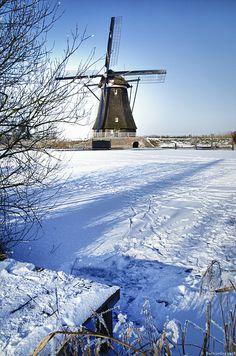 **Holland, vandaag 24.1.2015. alles wit