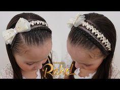 PEINADO INFANTIL/ DIADEMA CON ENCINTADO ELEGANTE Y DELICADO/ FÁCIL/ Peinados Rakel 83 - YouTube Girl Hair Dos, Hair Looks, Girl Hairstyles, Hair Beauty, Youtube, Outfits, Fashion, Men's, Twist Braid Hairstyles