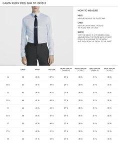 Calvin Klein Steel Men's Slim-Fit Non-Iron Performance Herringbone French Cuff Dress Shirt - Blue 15.5 34/35