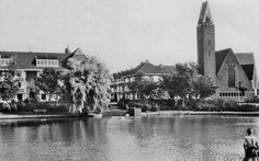 Het Floresplein eind jaren '50