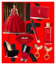 """my prom--"" by belma01 ❤ liked on Polyvore featuring Lime Crime, Yves Saint Laurent, Estée Lauder, NARS Cosmetics and Chanel"