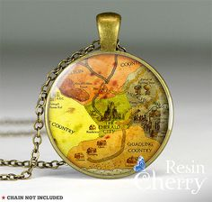The Wonderful Wizard of Oz map pendant