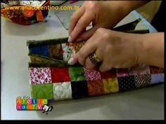 Patchwork Ana Cosentino: Estojo Watercolor Parece-me ser um tutorial razoável de um estojo duplo