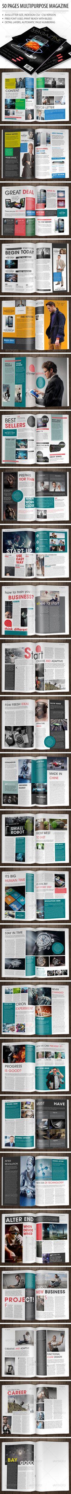 Indesign Magazine Bundle | Pinterest