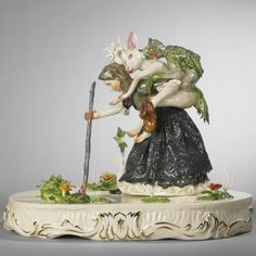 Shary Boyle- Porcelain decorative figurines. Hella rad #wishIhademojistoexpressmylove