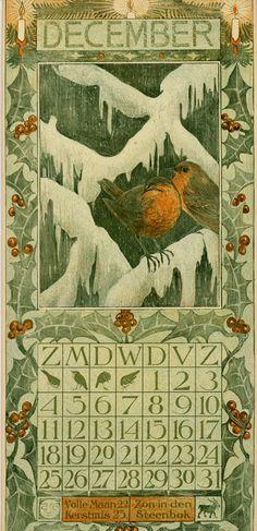 Theodoor van Hoytema, calendar 1904, december
