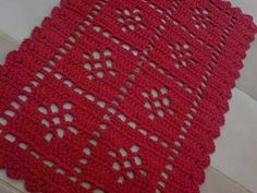tapetes de croche com flores - Pesquisa Google