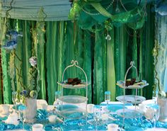 under the sea - table decor (sea weeds above the cork and sea creature)