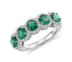 Emerald With Diamond Halo Ring ($5,200): This ring is classic and elegant, which means it will never go out of style.