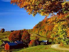 Woodstock-in-Autumn,-Vermont