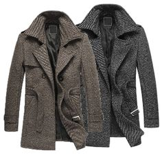 Men's Coat with Belt