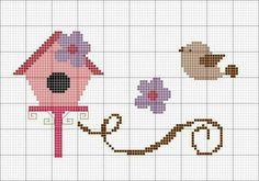 Pin about Kanaviçe, Kanaviçeler ve Kuş on H Cross Designs, Cross Stitch Designs, Cross Stitch Patterns, Cross Stitching, Cross Stitch Embroidery, Beading Patterns, Embroidery Patterns, Simple Cross Stitch, Cross Stitch Animals
