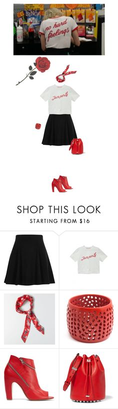 """""""Untitled #2175"""" by hologrammar ❤ liked on Polyvore featuring River Island, American Eagle Outfitters, Maison Margiela and Alexander Wang"""