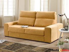 Sofá cama modelo Loreto fabricado por Acomodel en Sofassinfin.es