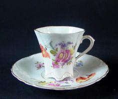 schöne Jugendstil Moccatasse - H. Ohme 1900