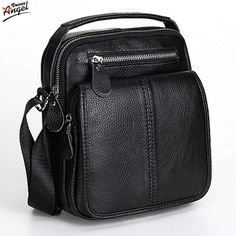 Fashion Genuine Leather Men's Messenger Bags Man Portfolio Office Bag Quality Travel Shoulder Handbag for Man 2016 Dollar Price *** Want to know more, click on the image.