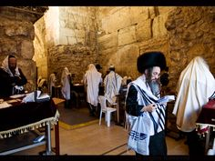 JERUSALEM | Early morning prayers by the Wailing ( western ) wall during Passover week. Photo taken in the Jewish quarter of the old city of Jerusalem, Israel.                                                                                     by boaz images