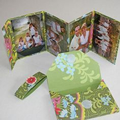 Tutorial: DIY Mini-Handbag Albums Remixed. These little albums are fun and easy to make. The idea for this project is not mine. I saw a DIY scrap booking segment on HGTV a few years back. The original idea belongs to Alanna George of Colorbok. They fit perfectly in a purse, and would make a great gift filled with pictures for family or friends. GREAT IDEA!!!!