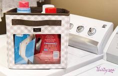 The Your Way Junior Cube is the perfect place to keep laundry detergent neat and organized! www.mythirtyone.com/myshop