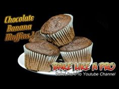 Easy Moist Chocolate Banana Muffins Recipe ! - YouTube