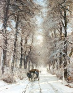 Louis Apol - Paard en wagen op een pad