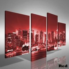 New York City Canvas Art | Manhattan New York City Offset Canvas Print Large Picture Wall Art ...
