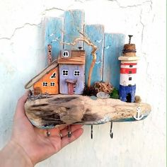 Pin Decor - Just another WordPress site Sea Crafts, Cork Crafts, Wooden Crafts, Diy And Crafts, Arts And Crafts, Handmade Home, Handmade Crafts, Driftwood Projects, Driftwood Art