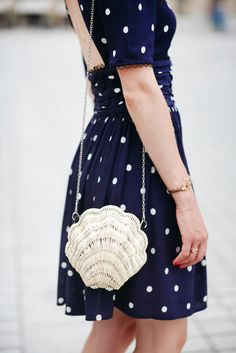 Shell purse and polka dots