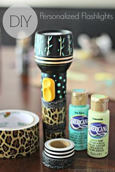 Create Crazy Fun Personalized Flashlights! #flashlights #decoart #camping