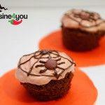 Cupcakes de chocolate con tela de araña #diadelterror